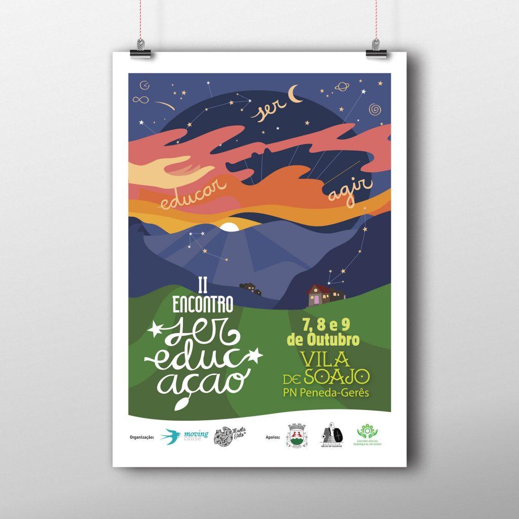 Cartaz do II Encontro Ser EducAção. 7, 8 e 9 de Outubro de 2016. Design: Nuria Barreras
