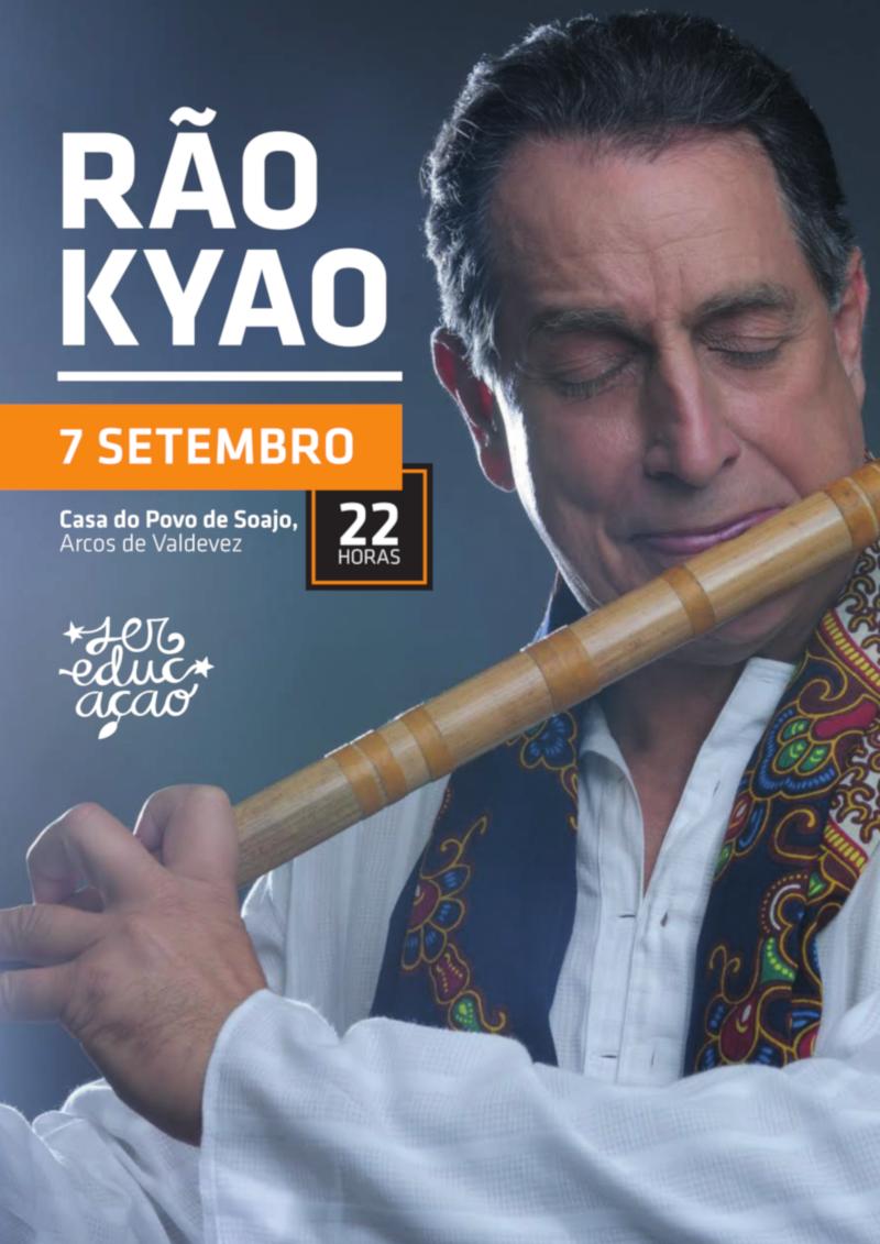 Concerto Rão Kyao: sexta-feira, 7 de Setembro de 2018, às 22:00 no Auditório da Casa do Povo de Soajo